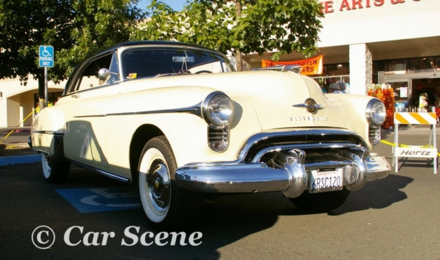 1950 Oldsmobile Rocket  88 Club Coupe front three quarters view