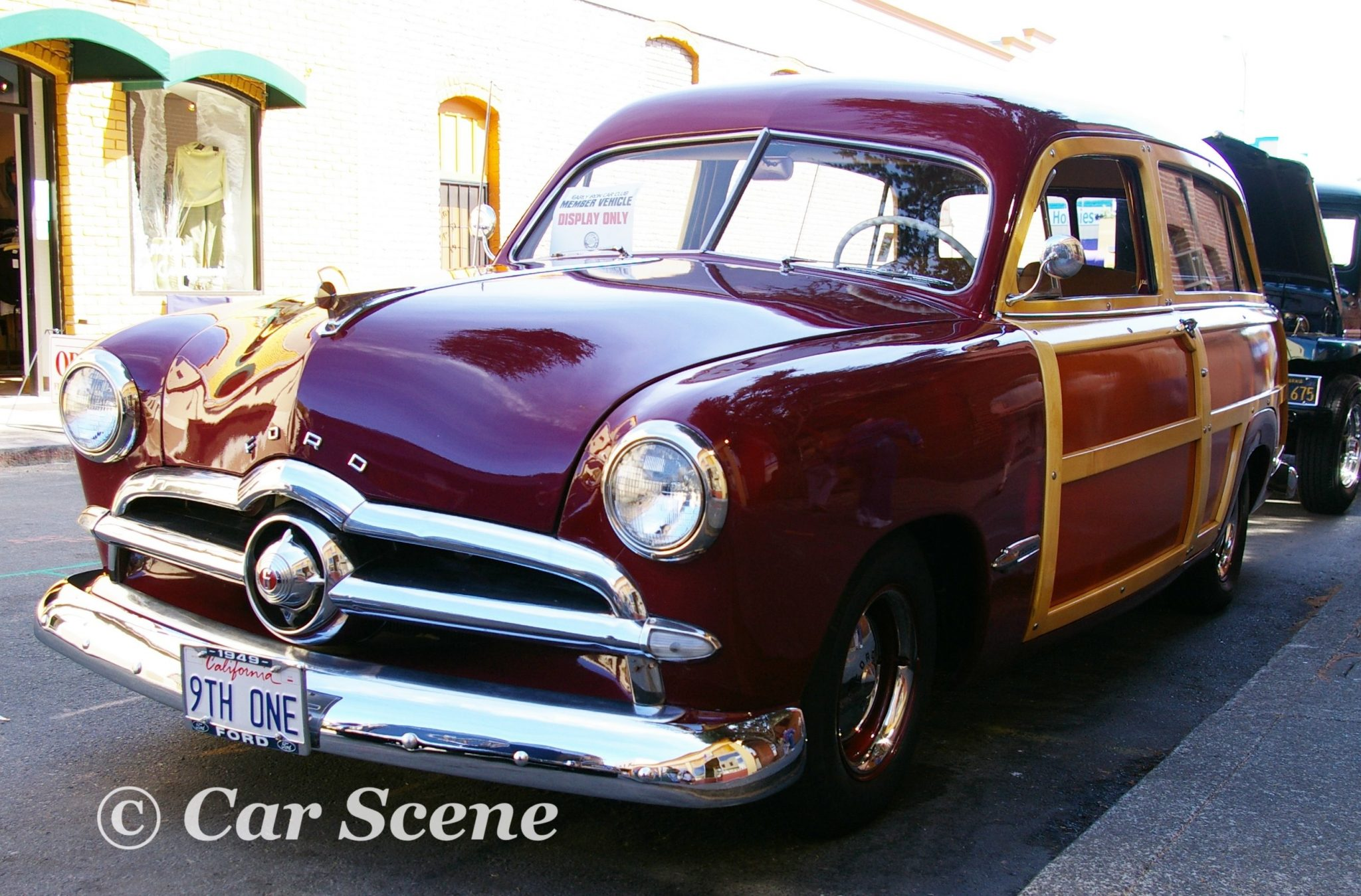 1949 Ford 'Woody' Station Wagon front three quarters view