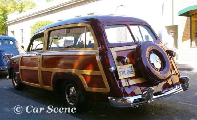 1949 Ford 'Woody' Station Wagon rear three quarters view