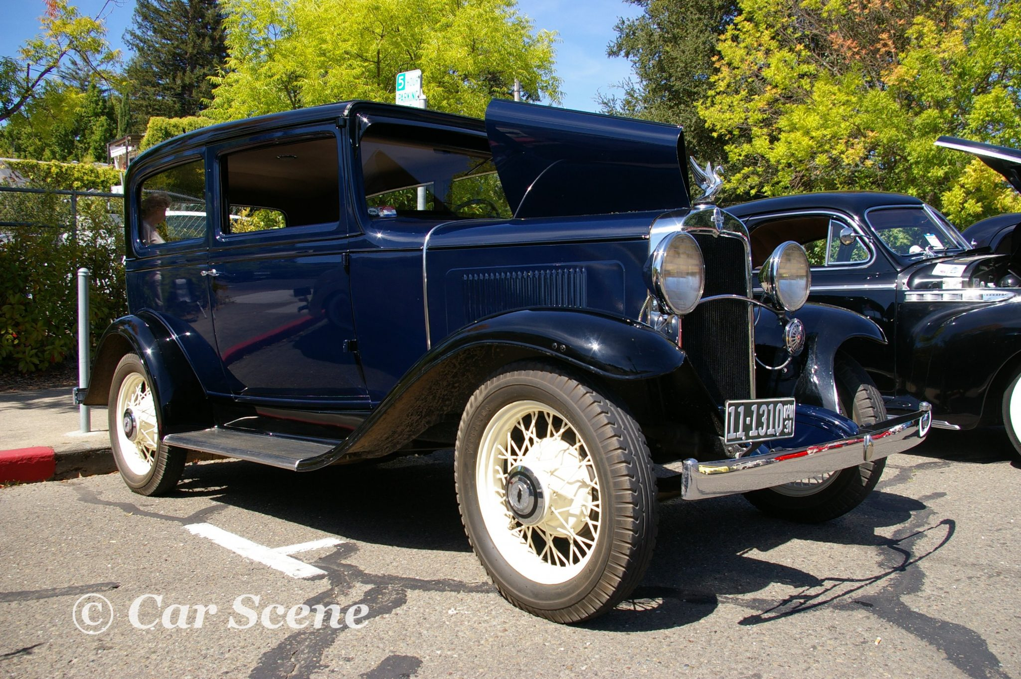 1932 Chevrolet 2 door sedan front three quarters view