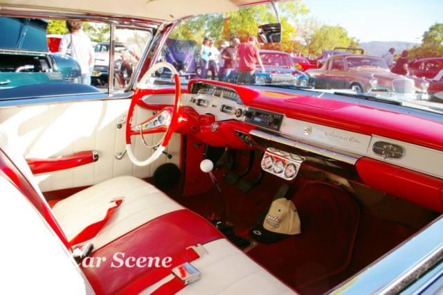 1958 Chevrolet Impala 2 door hardtop cockpit view