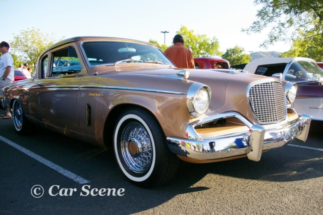 1956 Studebaker Golden Hawk front three quarters view