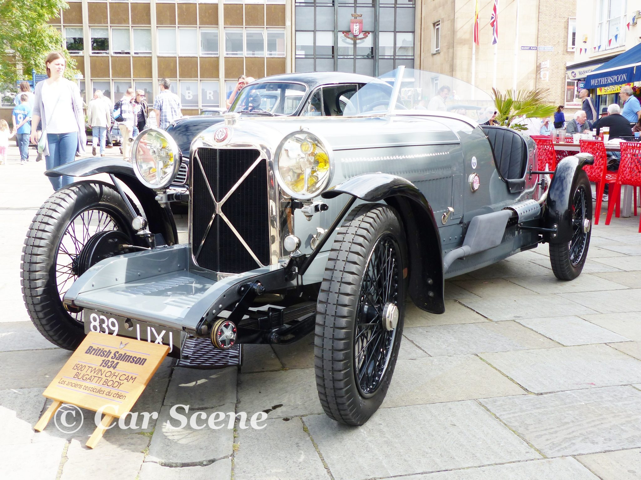 1934 British Salmson sports car front three quarters view