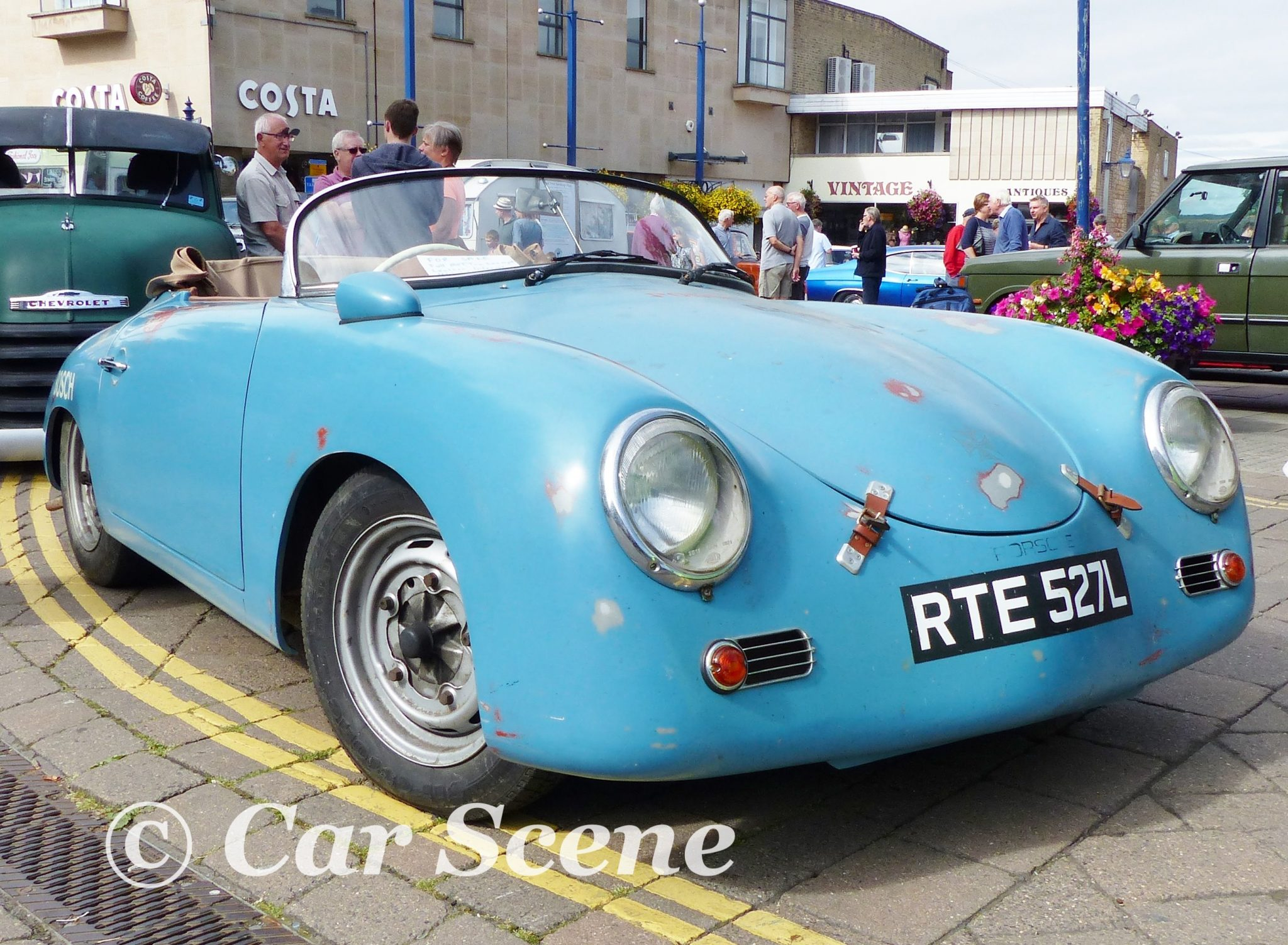 1950s Porsche 356 cabriolet front three quarters view