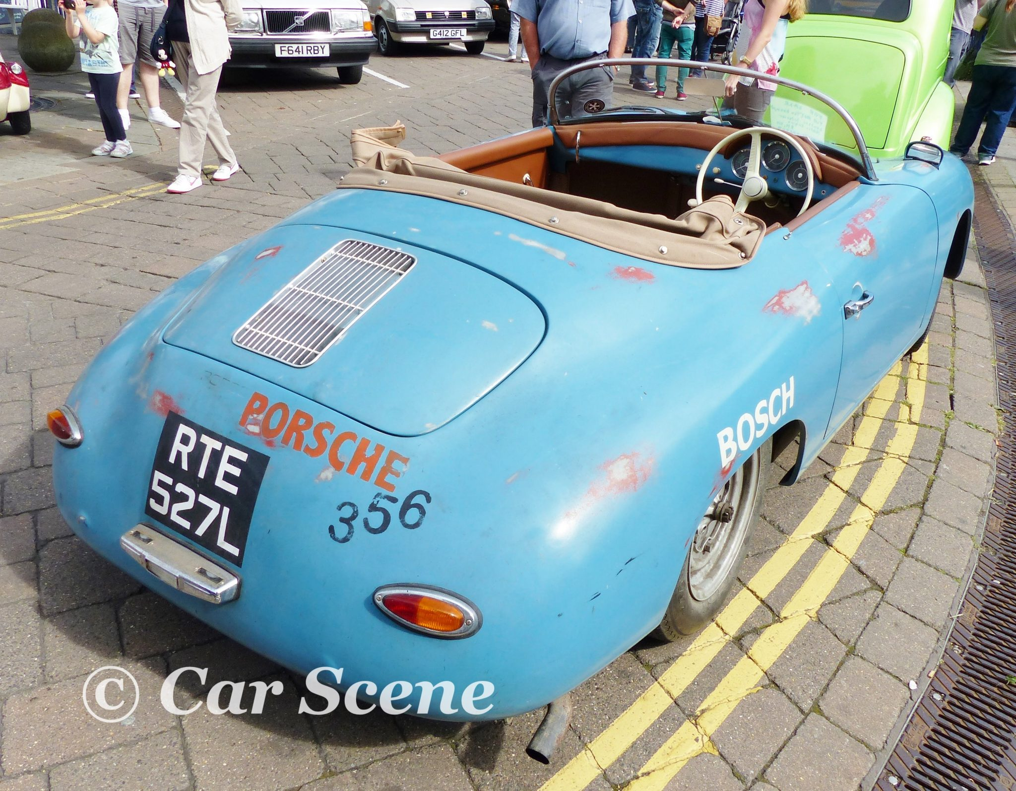 1950s Porsche 356 cabriolet rear three quarters view