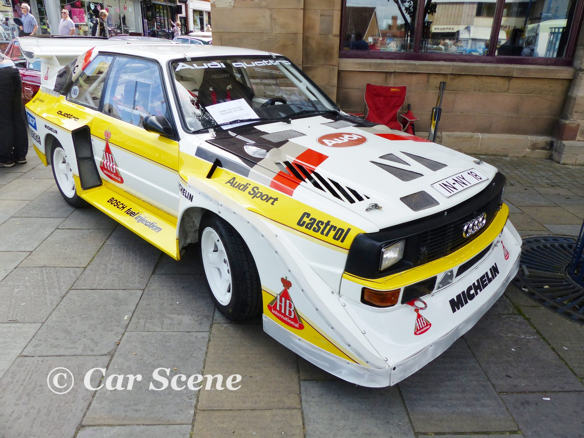 1982 Audi Quattro S1 Group B Rally Car front three quarters view