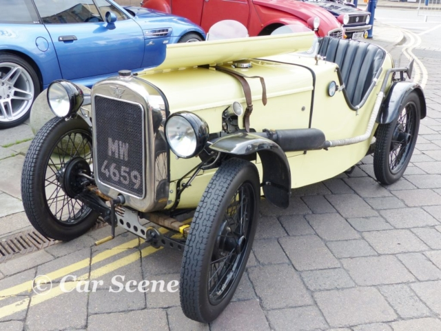 1927 Austin Ulster sports car front three quarters view