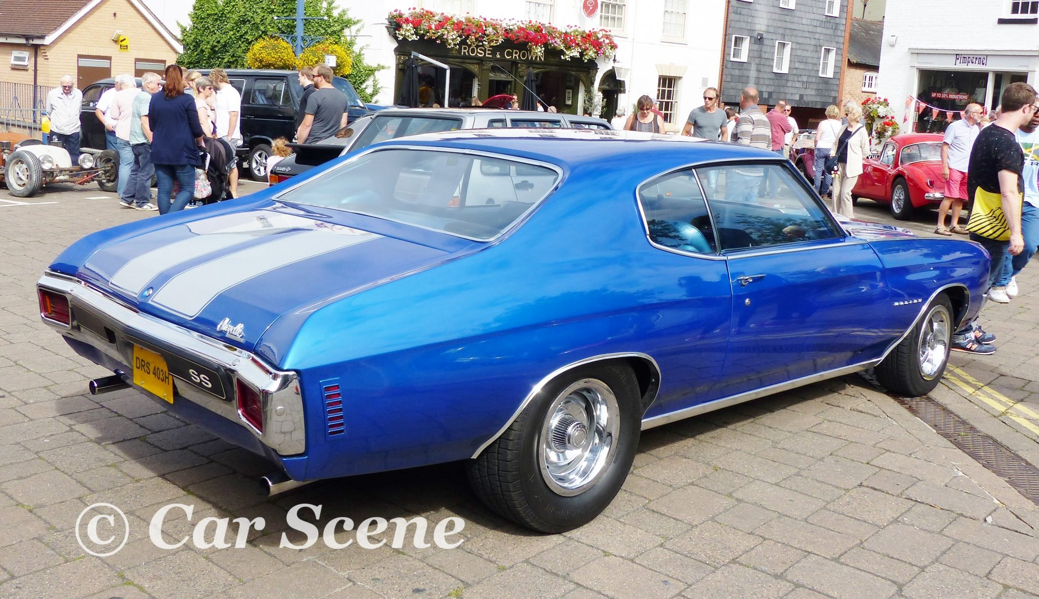 1969 Chevrolet Chevelle Malibu SS rear side view