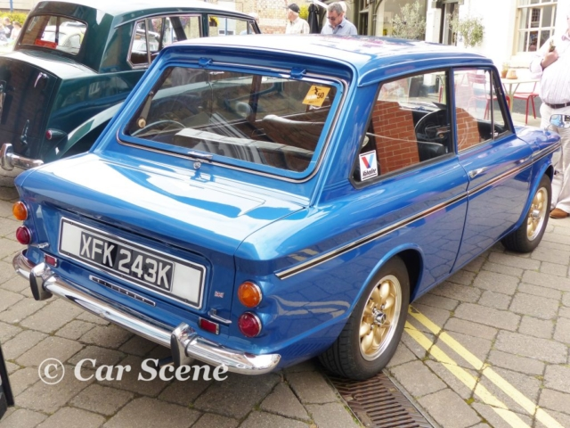 1971 Hillman Imp rear threequarters view