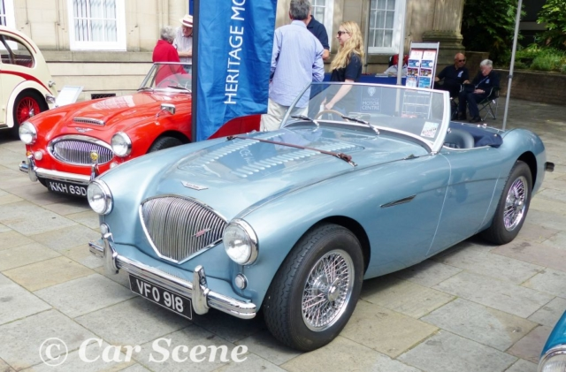 1955 Austin Healey 100M front three quarters view