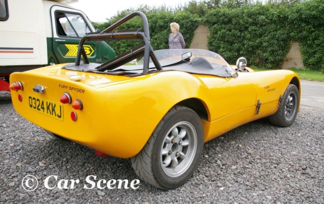 Fury Spyder rear three quarters view