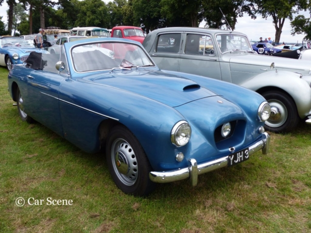 Bristol 404  Drop-head Coupe front view photographed at Chateau Impney July 2017