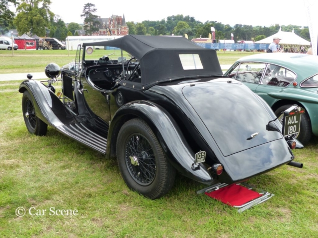 Talbot 110 based special rear view photographed at Chateau Impney July 2017