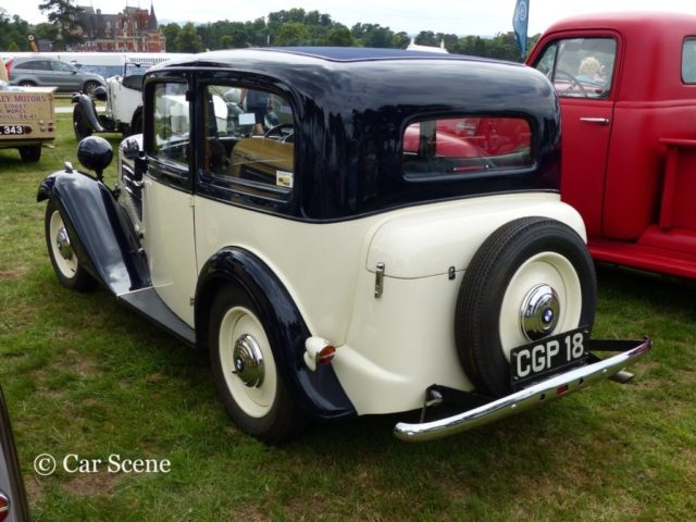 c.1934 BMW 303 two door saloon rear view photographed at Chateau Impney July 2017