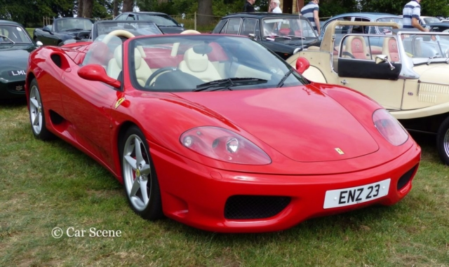 Ferrari 360 Modena photographed at Chateau Impney July 2017