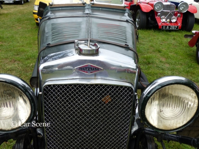 c.1930 Frazer Nash Sports radiator badge photographed at Chateau Impney July 2017