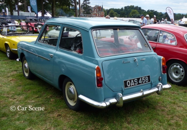 1960s Austin 'Pinin Farina' A 40 photographed at Chateau Impney July 2017