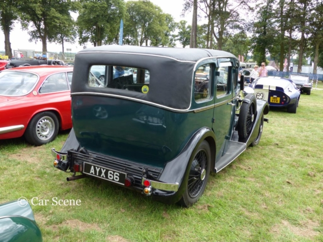 c1935 Daimler light 15 rear view photographed at Chateau Impney July 2017