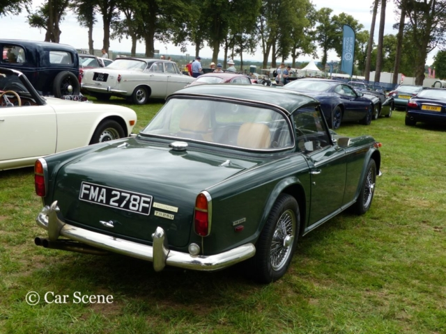 1968 Triumph TR5 250 rear view photographed at Chateau Impney July 2017
