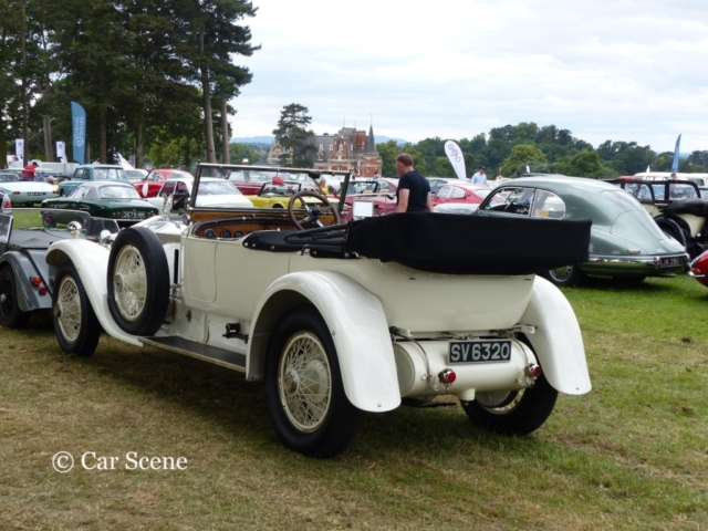 1924 Rolls Royce Silver Ghost rear/near side view photographed at Chateau Impney July 2017