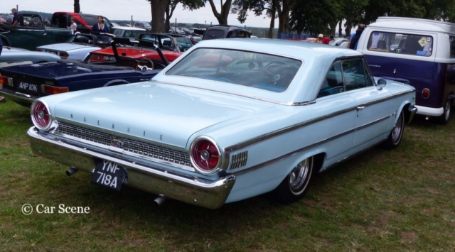 1963 Ford Galaxie Coupe rear view photographed at Chateau Impney July 2017