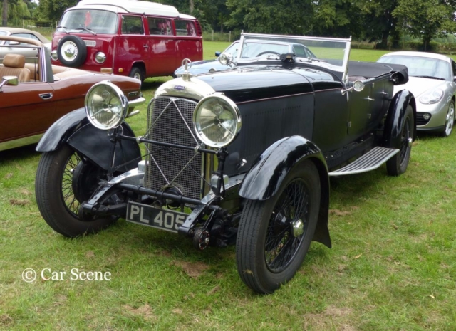 c1929 Lagonda 2 Litre Low Chassis Speed Model Tourer front view photographed at Chateau Impney July 2017