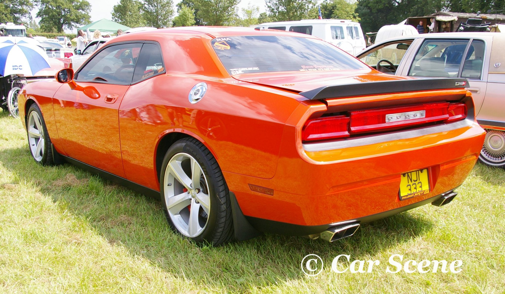 2008 Dodge Challenger SRT8 rear three quarters view