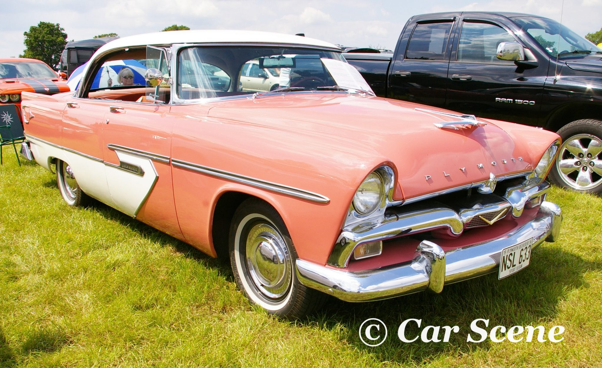 1955 Plymouth Belvedere front three quarters view