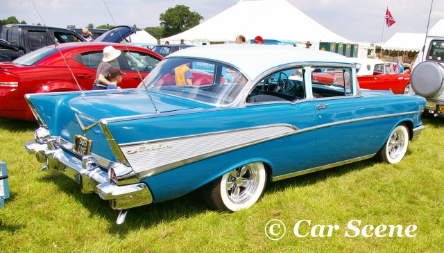 1957 Chevrolet Bel Air Coupe rear side view