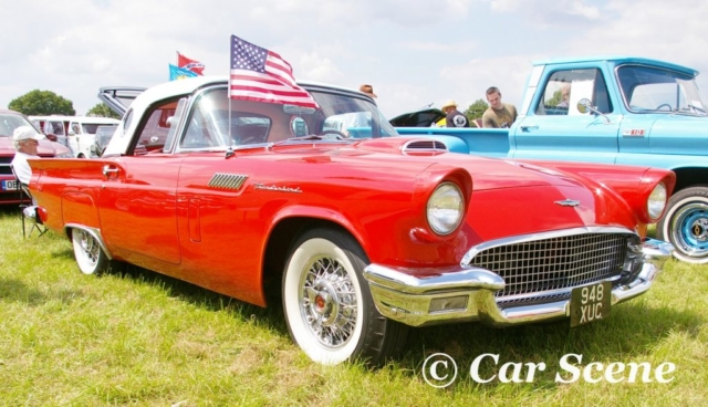 1957 Ford Thunderbird front three quarters view