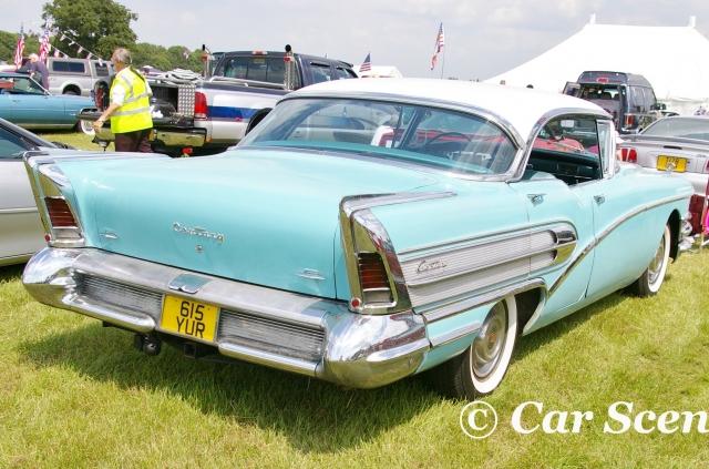 1958 Buick Century rear three quarters view