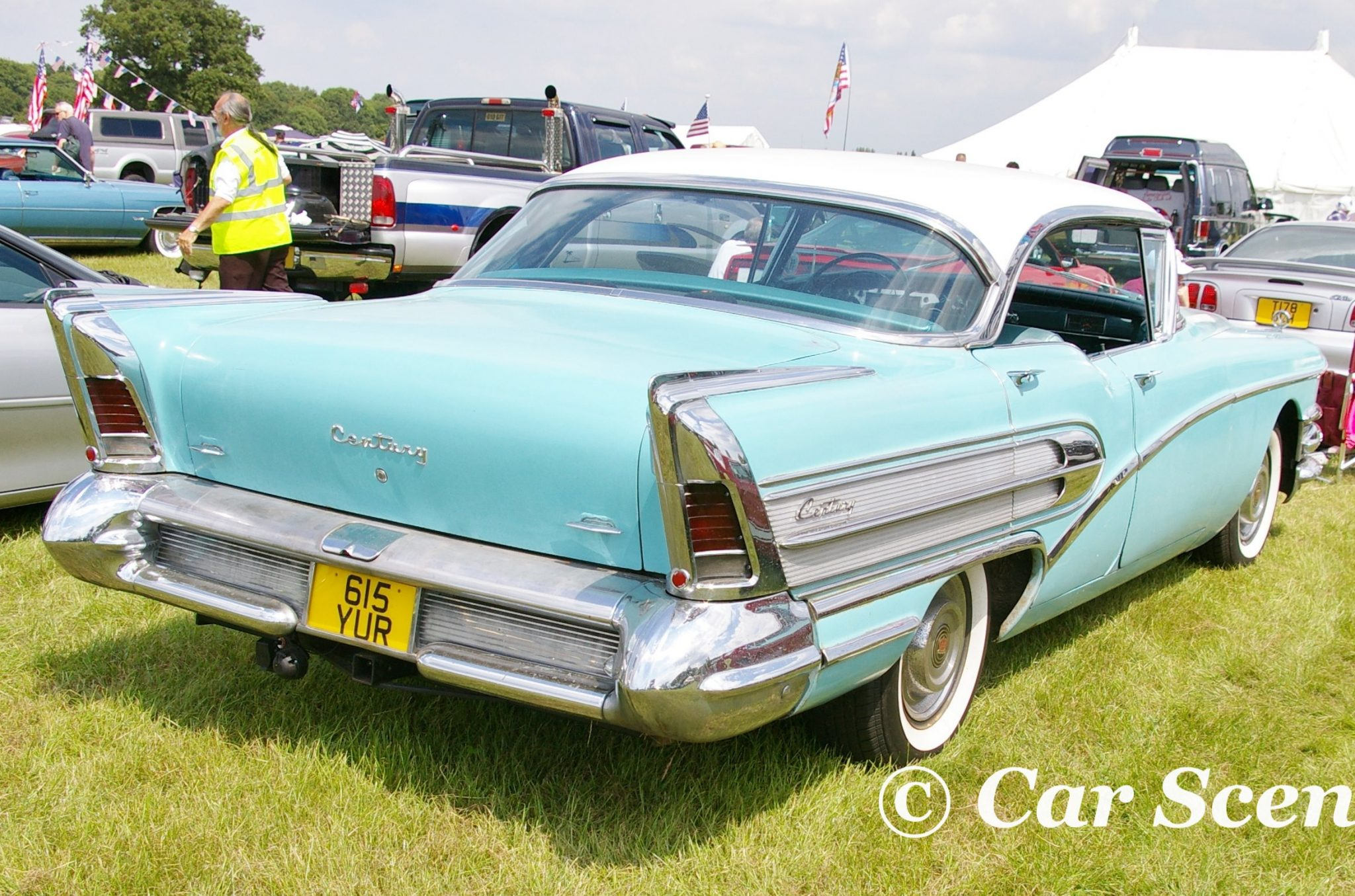 1958 Buick Century rear three quarters view
