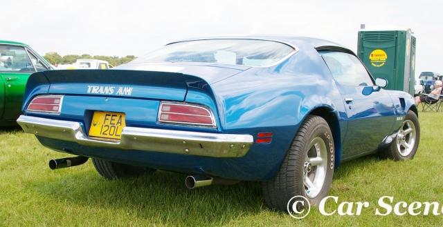 1973 Pontiac Firebird Coupe Trans Am rear three quarters view