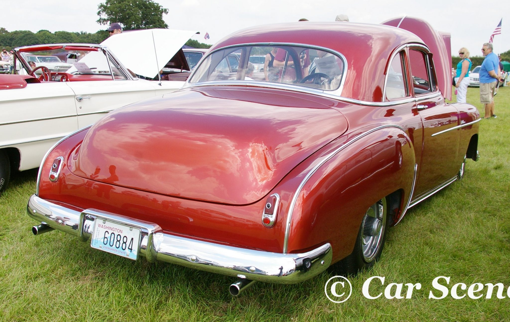 1950s Chevrolet Coupe Deluxe rear view
