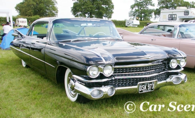 1959 Cadillac Sedan de Ville Coupe front three quarters view