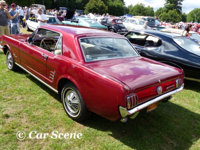 1964 Ford Mustang rear three quarters view