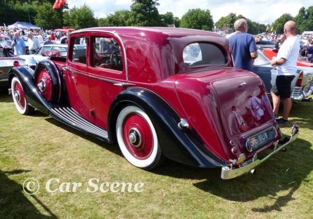 1930s Alvis Speed 20 rear three quarters view