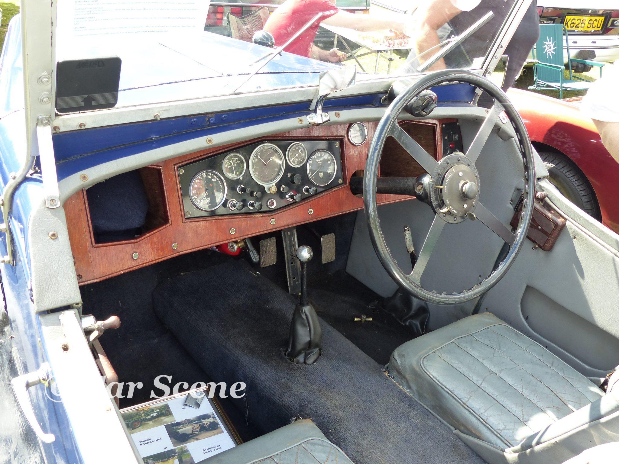 1928 Alvis Tourer cockpit view