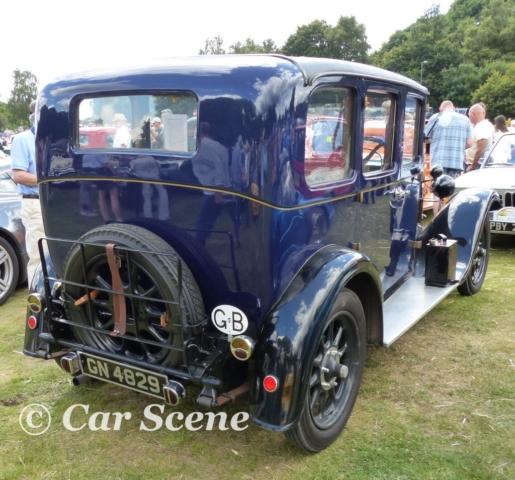 1931 Austin Heavey 12/4 Burnham Saloon rear three quarters view