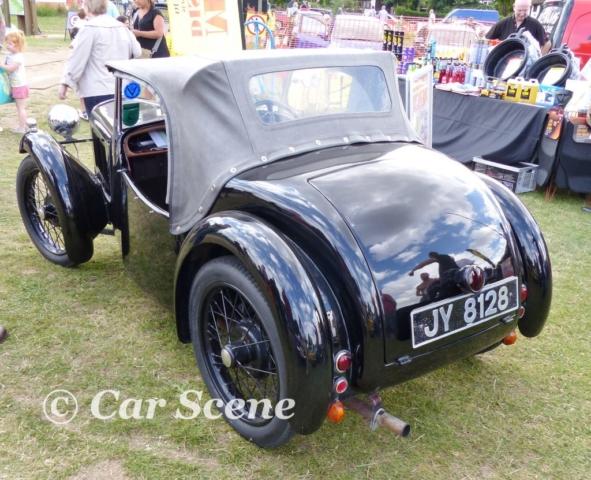 1934 Austin 7 Nippy rear three quarters view