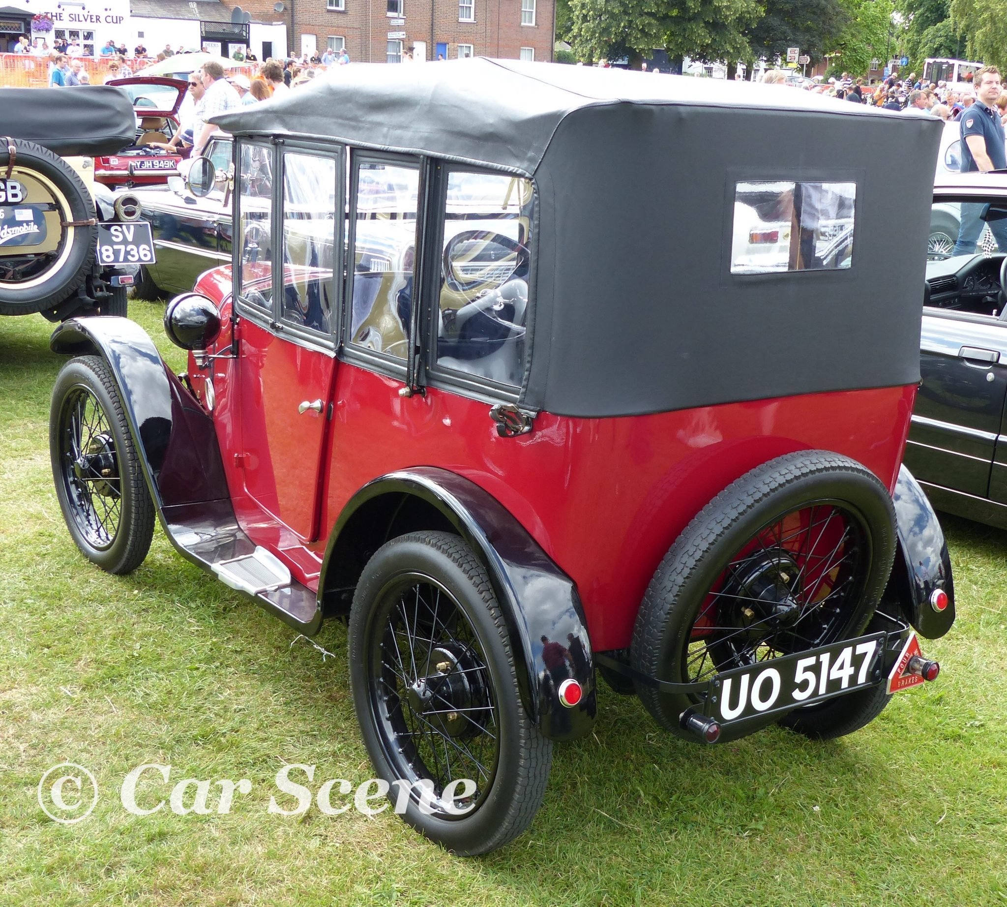 1924 Austin 7 Cabriolet rear three quarters view