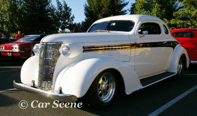 1938 Chevrolet Master Deluxe front three quarters view