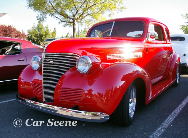 1939 Chevrolet Master customised front three quarters view