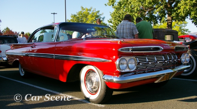 1959 Chevrolet Impala Coupe front three quarters view