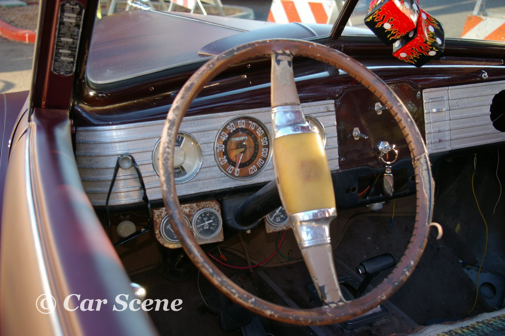 1948 Nash Ambassador Convertible cockpit view