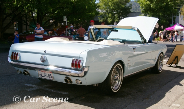 1964 Ford Mustang convertible rear three quarters view
