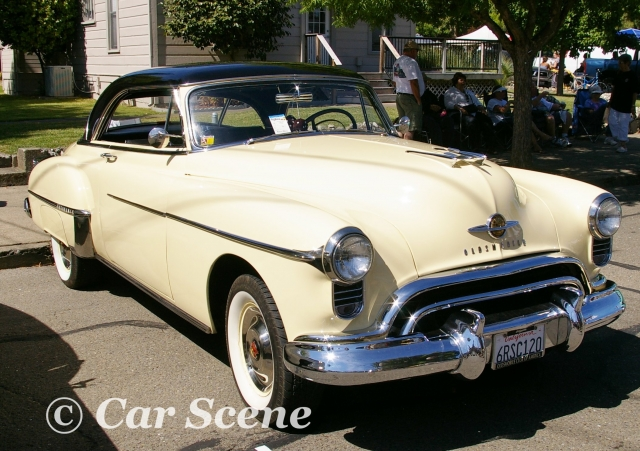 1950 Oldsmobile Club Coupe front three quarters view
