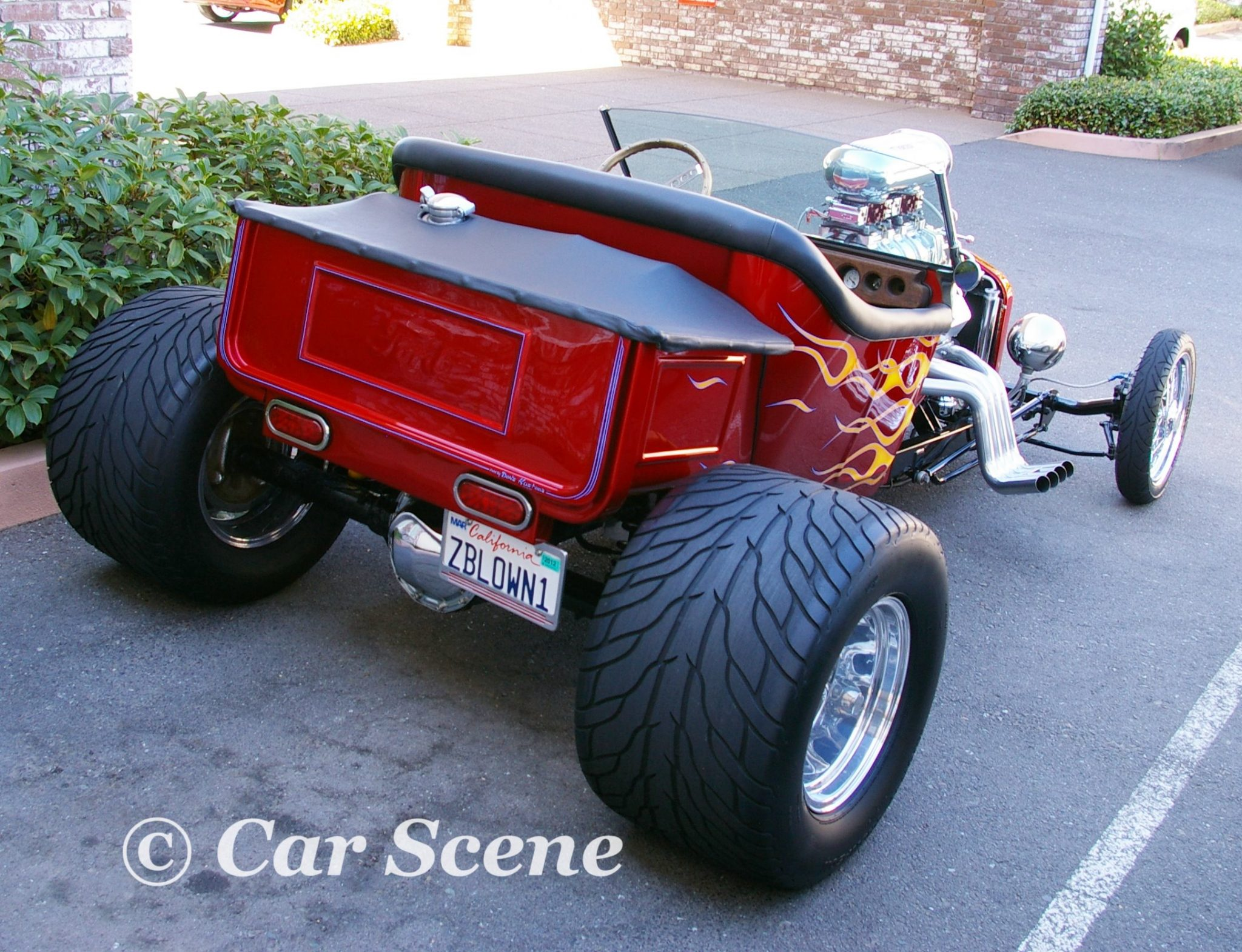 Californian Ford based Hot Rod rear view