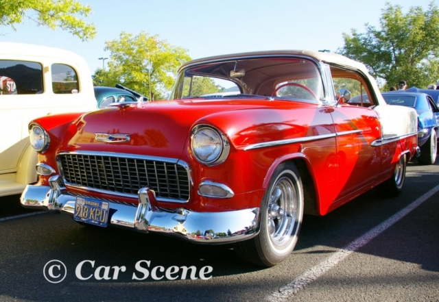 1955 Chevrolet Bel Air Convertible front three quarters view