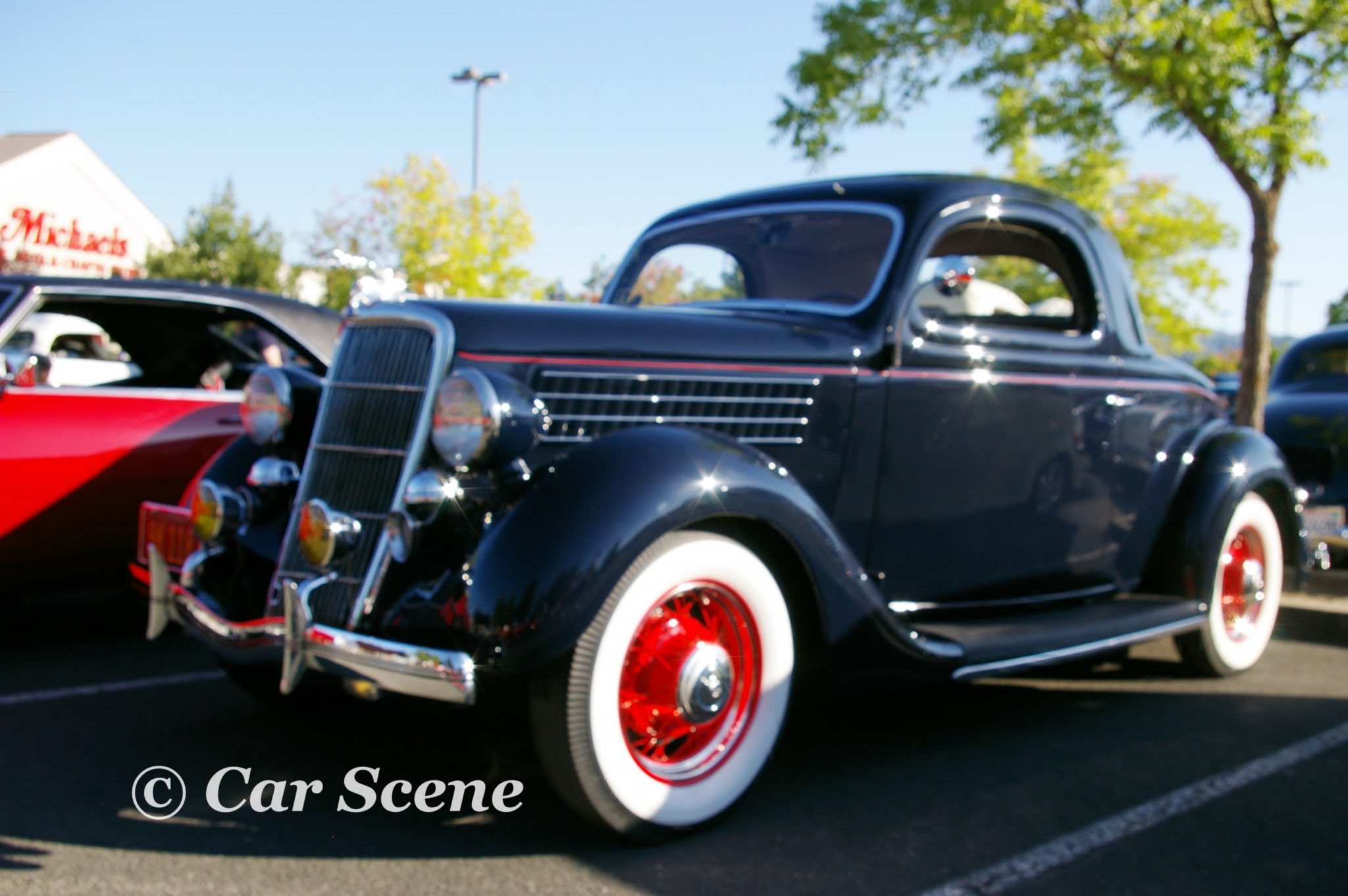 1935 Ford Model 48 Coupe front three quarters view